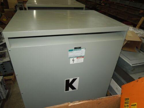 Siemens 225KVA 480-208Y/120V 3PH Dry Type Transformer K-13 Used Electrically OK
