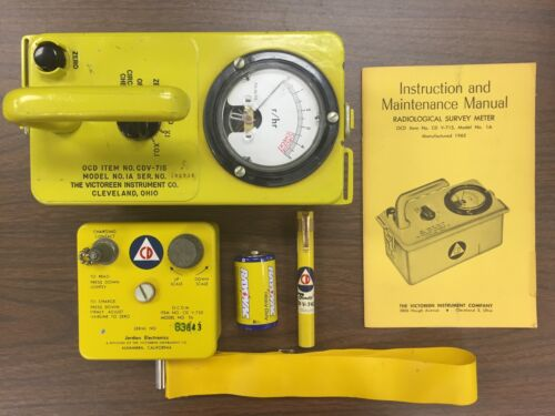 $ 12 - Cdv-715 Radiation Geiger Counter Kit With Cdv-750 Charger And Pen