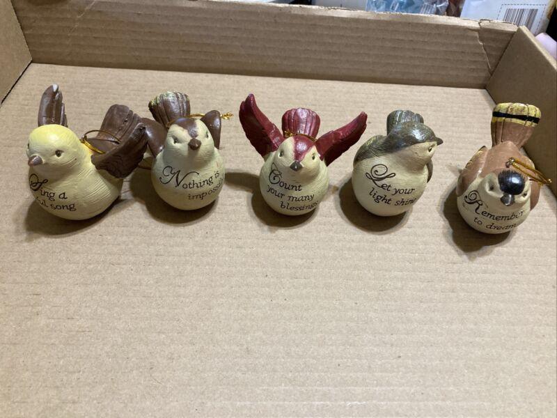 bird ornament lot of 5