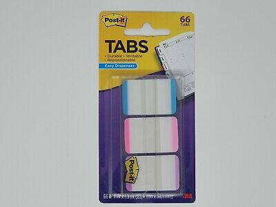 Post-it Tabs 3m 1x1.5 66pack Writable 3 Lined Color Repositionable 686l-apv