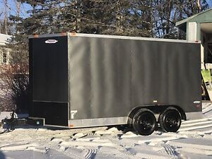 2015 V-nosed enclosed cargo trailer with specialty upgrades