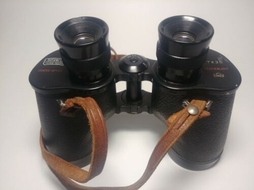 Bushnell Featherlight 7x35 Binoculars Vintage with Strap - Black, Used