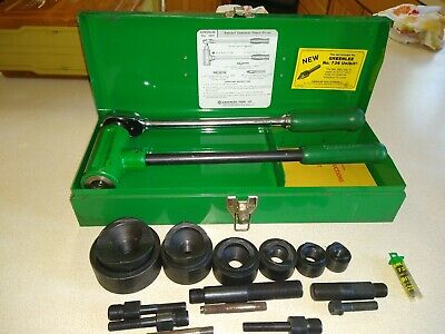 Greenlee 1804 1806 Ratchet Knockout Puller W 12-2 Conduit Punch Die Set