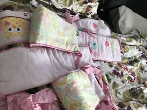 Moving Sale: baby girl crib bedding set for sale