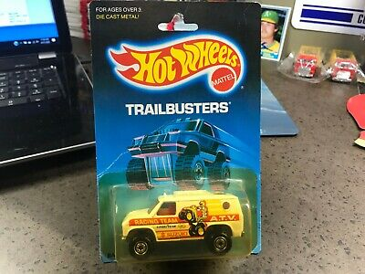 Hot Wheels BLUE CARD TRAILBUSTERS BAJA BREAKER VINTAGE ATV RACE VAN BLISTERED