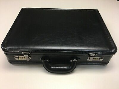 Samsonite Leather Attache Briefcase - Black