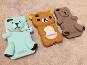 3x cute bears rubberized phone cases for iPhone 5/5S