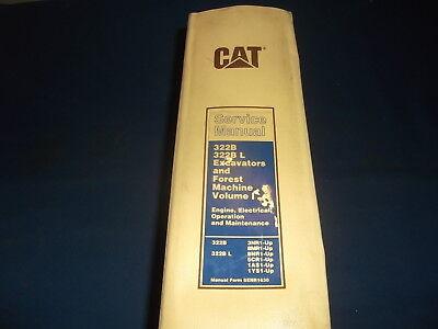 Cat Caterpillar 322b L Excavator Forest Machine Service Shop Repair Book Manual