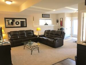 Furnished walkout suite all utilities included in Fort Sask