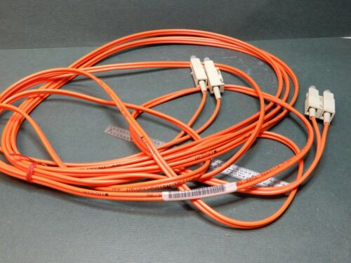 18 Foot Twin Fiber Optic Cable ST Terminations Unknown Make AMP? 9624061026