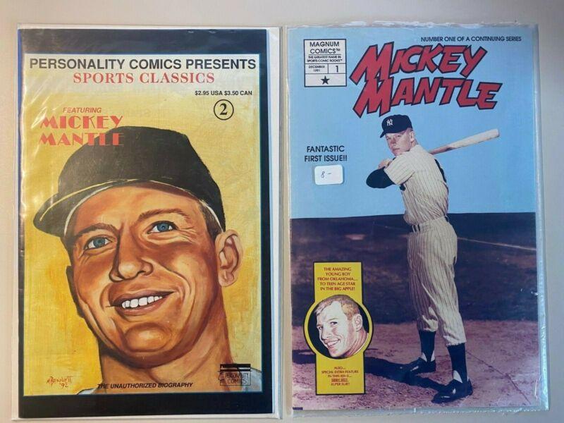 Mickey Mantle Comics #1 Edition (Dec 1991, Magnum Comics) Includes Bonus Comic
