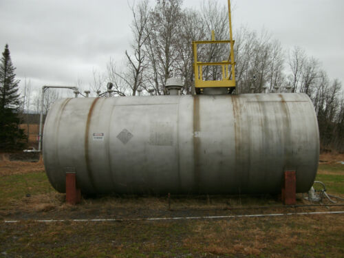 KENNEDY TANK 7,400 GALLON STAINLESS STEEL TANK W/EMERGENCY RELIEF VENTING