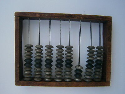 Soviet Counting Frame Vintage Wooden Abacus Beads Russian Office Clerk USSR 60s