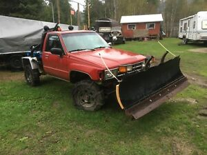 1985 Toyota with SnowPlow