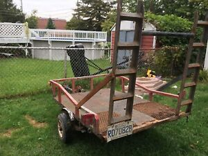 Utility trailer for a quad or bikes