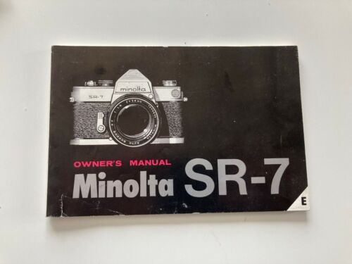 Minolta SR-7 35mm film SLR owner