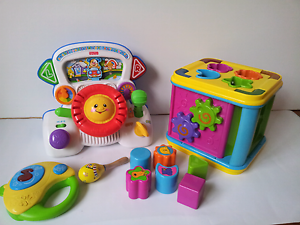 Fisher Price Rumble and Learn To Drive with  3 other toys Wantirna Knox Area Preview