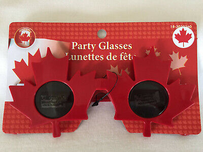 Canada Novelty Sunglasses. Red maple leaf shaped frames! Ships fast from (Sunglass Canada)