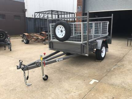 7x4 Cage Trailer with Removable H-bars