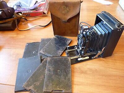 Zeiss Ikon ICA MAXIMAR 207 avec étui ancien et plaques