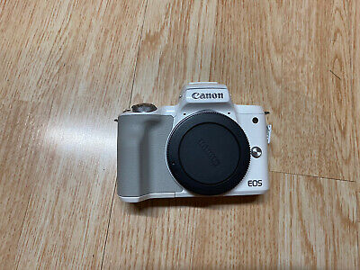 White Canon EOS M50 24.1 MP Mirrorless Camera Body Only