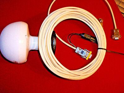 Vintage Globe 1000 Antenna Wcable Stand Power Cable Trimble Leica Topcon Sokkia