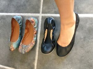 Two pairs of Nine West flats 7.5