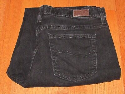 Women's LEE Black Relaxed Stretch Denim Boot Jeans in Size 14 L 33 x 31 Exc Cond