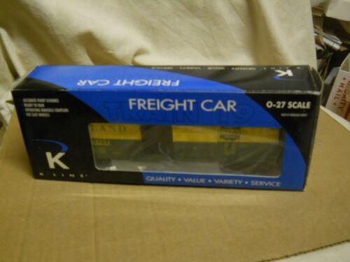 O/O27 Gauge: K-Line  K640-4161 Rutland O Gauge Boxcar