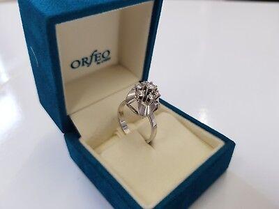 585 Weißgold 14Karat Designer Ring Diamant/Brillantring 0,5ct.