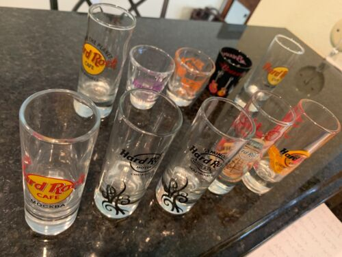 Hard Rock Cafe single and double Shot Glass .choose yours