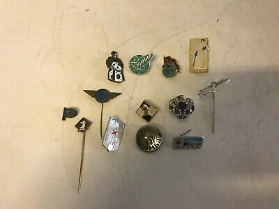 Vintage Pins Russian Space Olympics Airline Spy Bird Chess Lot of 13 Enamel