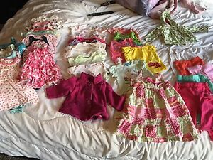 0-6 month summer baby girl clothing lot.