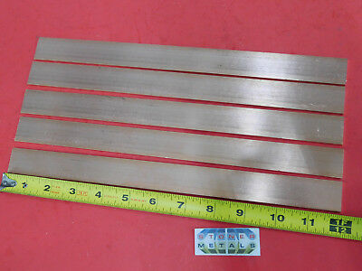 5 Pieces 18 X 1 C110 Copper Bar 12 Long Solid Flat Mill Bus Bar Stock H02