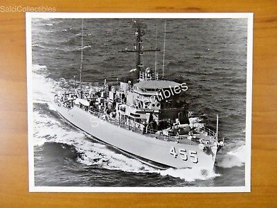 Official Navy Minesweeper Ocean Ship Photo 8X10 Mso 455 Uss Implicit