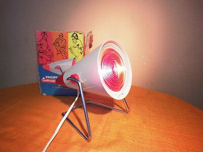 Infrarotlampe / Rotlichtlampe Philips infraphil KL 7500 um 1970 in OVP