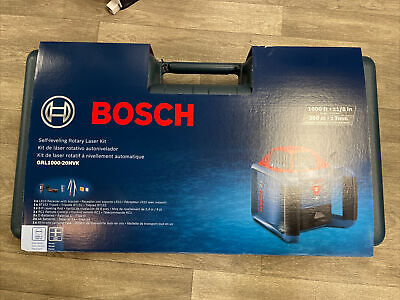Bosch Grl1000-20hvk 1000-ft Red Beam Self-leveling Rotary 360 Laser Level Kit