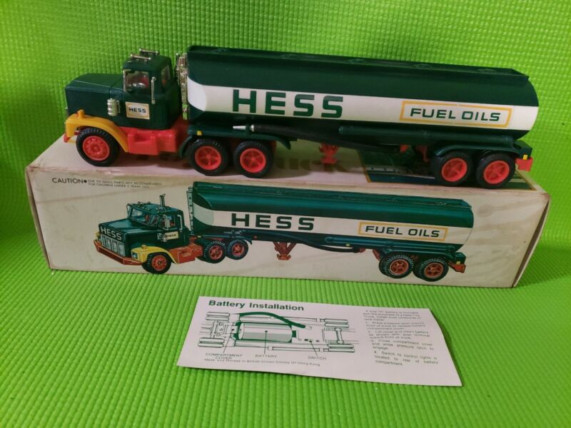 1978 Hess Toy Truck Gasoline Fuel Oil Tanker w/ Box And Insert Vintage NEW?