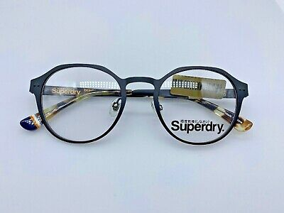Superdry Brandy Designer Eyeglasses 48-20-140 Black/Camo C004 Glasses