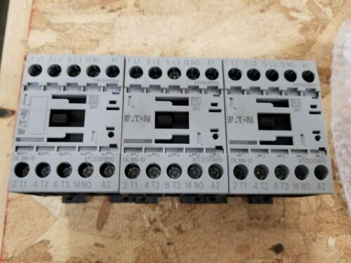 LOT OF 3 EATON MOELLER DILM9-10 CONTACTORS   W413