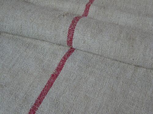 Antique European Feed Sack GRAIN SACK Red Stripe # 8210