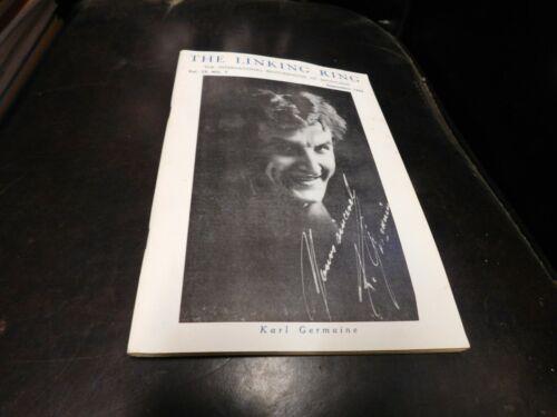 The Linking Ring Magic Magazine Magician Karl Germaine September 1959