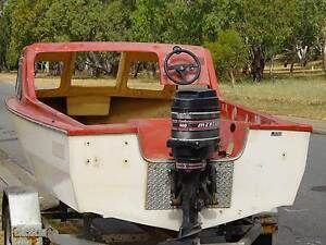 Rover Half Cab Boat & 50hp Mercury key start tilt TrimUrgent Sale Brisbane City Brisbane North West Preview