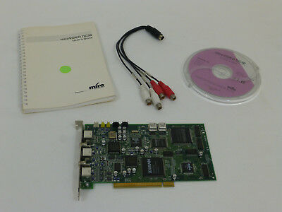 (VTG Pinnacle Miro Video DC30 Video Editing Card PAL SECAM NTSC w/ CD & Guide)