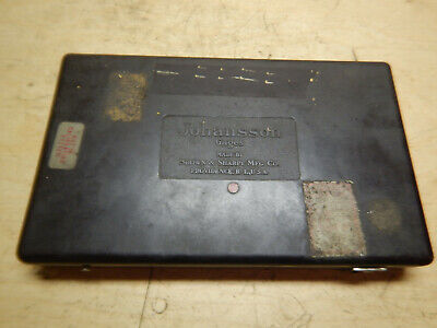 Vintage Johansson Brown And Sharpe Gage Gauge Blocks In Case Machinist Tool