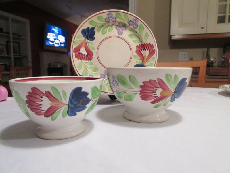 societe ceramique maestricht holland 1 plate 2 footed bowls make offer 3 pieces