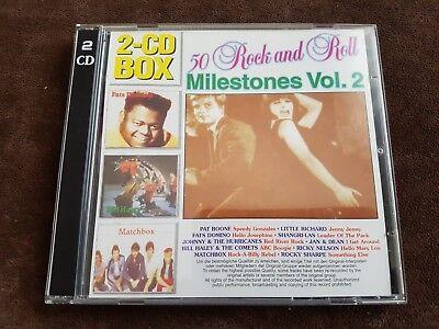 *** sehr gut *** 50 Rock and Roll Milestones Vol.2, Doppelalbum