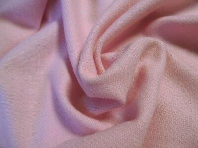 """BACK IN STOCK!  WOOL FLANNEL~LT. WEIGHT~BABY PINK~DOLL FABRIC ~12""""x30"""""""