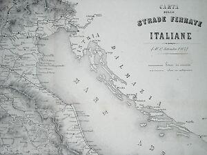 FERROVIE-ITALIANE-AL-1864-STRADE-FERRATE-ADRIATICHE-SICILIANE-SARDE-TIRRENICHE