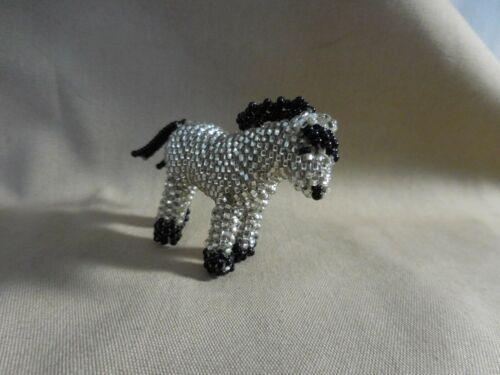Zuni Hand Made Beaded Silver Beads Horse by Bessie Vocit   # 307MOP